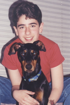 Colt with Angel the Doberman