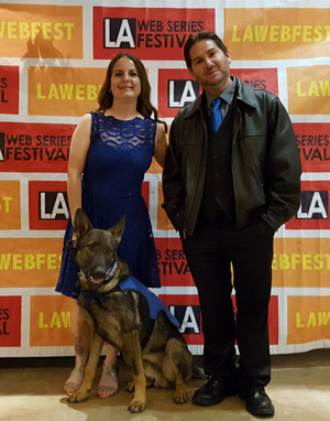 Amie, Matt and Patrick posing at the awards gala