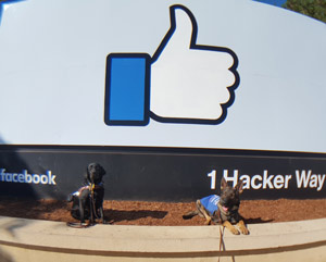 Gabby and Patrick at Facebook headquarters.