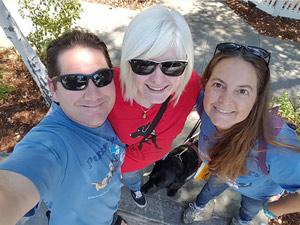 Matt, Katie, Gabby, and Amie share a selfie.