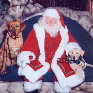 Eli and Prudy with Santa - Christmas 2007