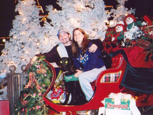 Macklin, Matt, and Amie on a Christmas sleigh