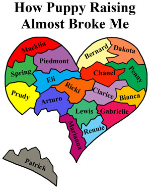 "broken heart graphic - ""How puppy raising almost broke me"""